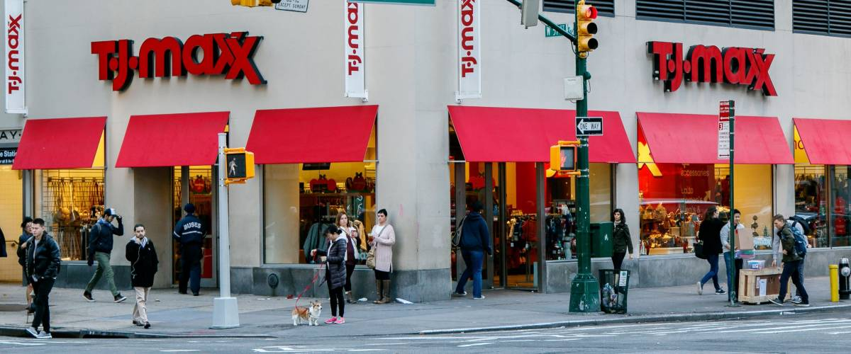 A busy TJ Maxx store, owned by TJX