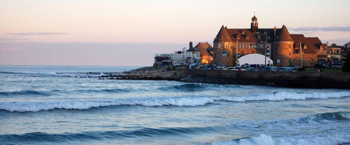 Narragansett Beach, Rhode Island at sunset