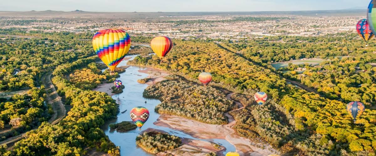 Balloons over the Rio Grande, New Mexico