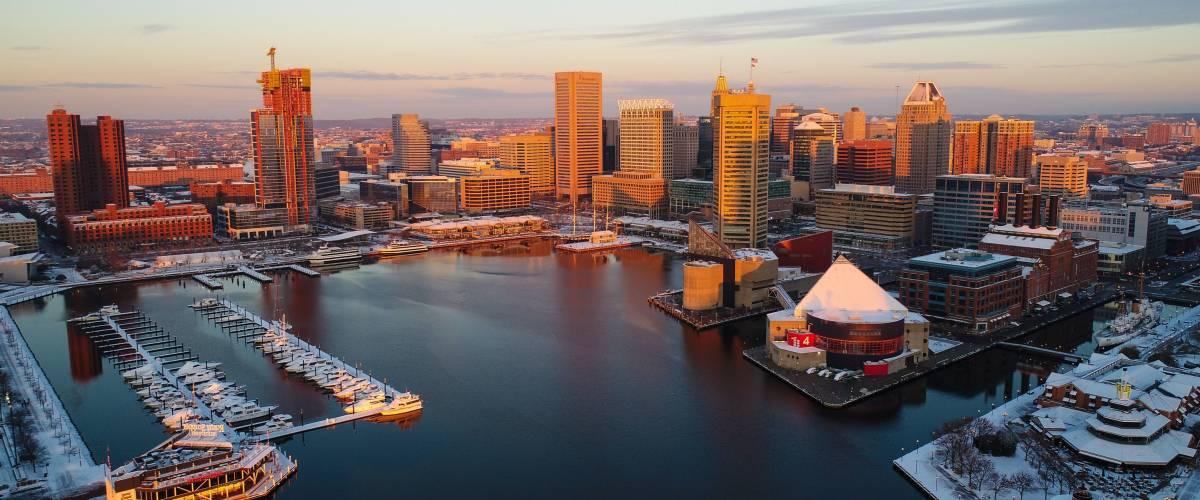 A December morning, Baltimore, Maryland