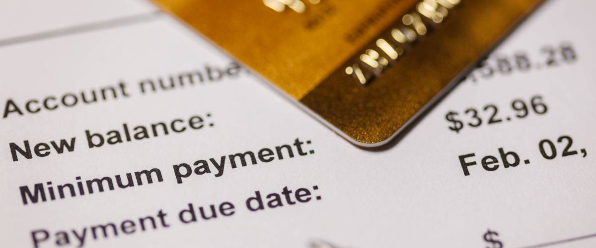 Paying the credit card bill,  minimum payment.