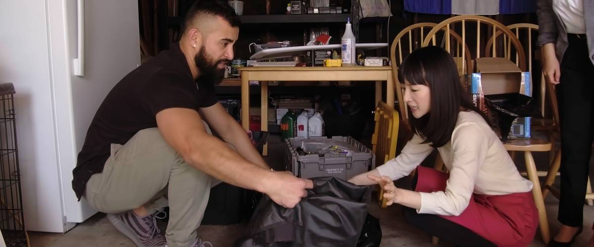 Mario Lemus, Marie Kondo in 'Tidying Up With Marie Kondo,' Season 1