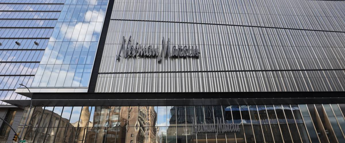 NEW YORK - MARCH 19, 2019: Neiman Marcus opens first Manhattan store at the Shops at Hudson Yards shopping mall.