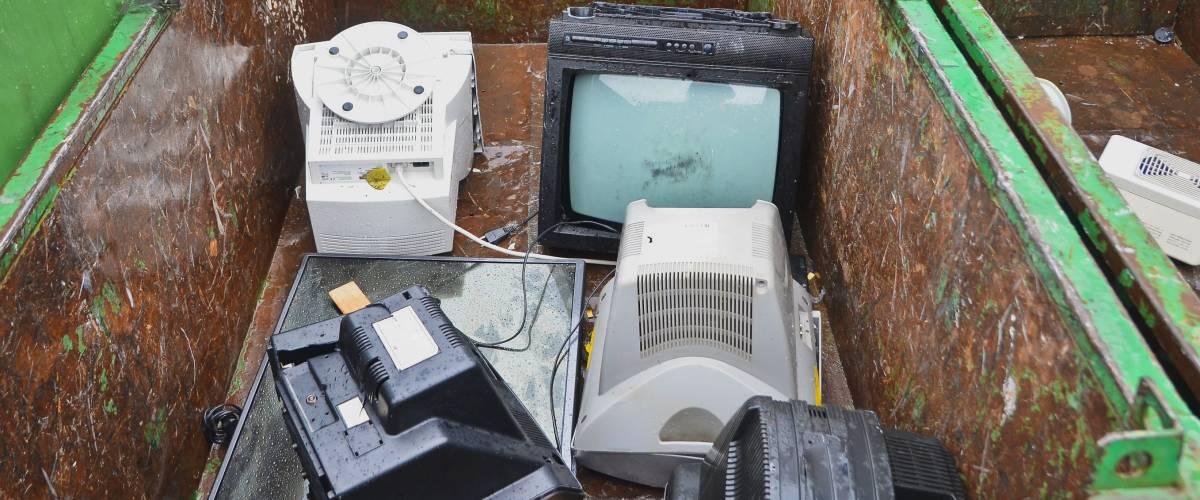 Використовуються телевізори і монітори, інші електронні пристрої в центрі переробки