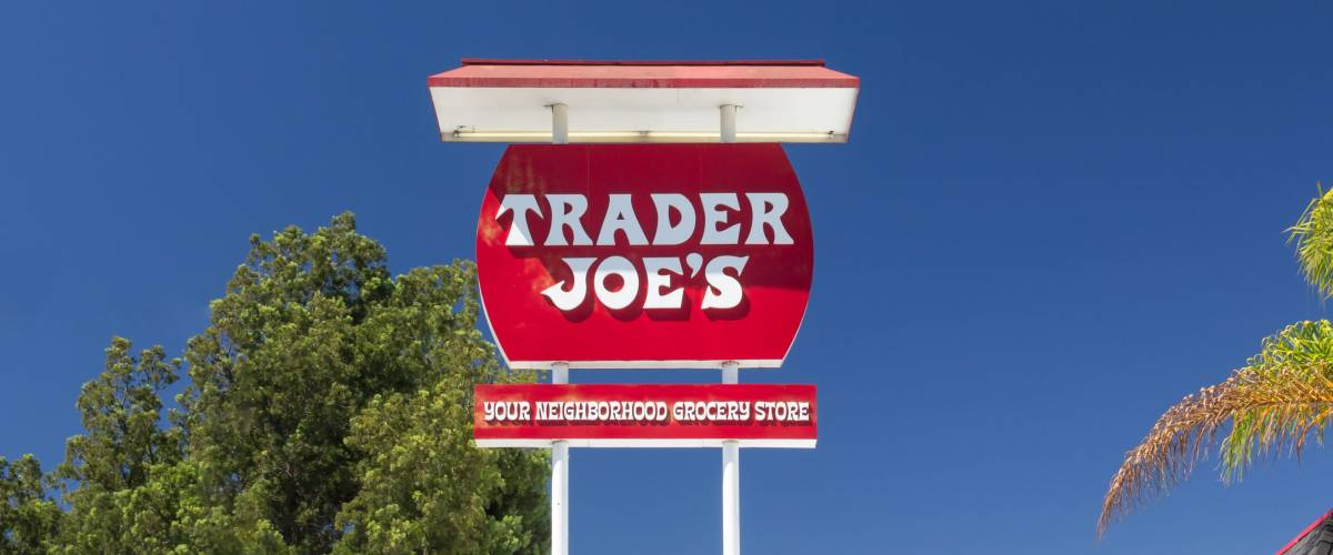 Sign at the first Trader Joe's in California