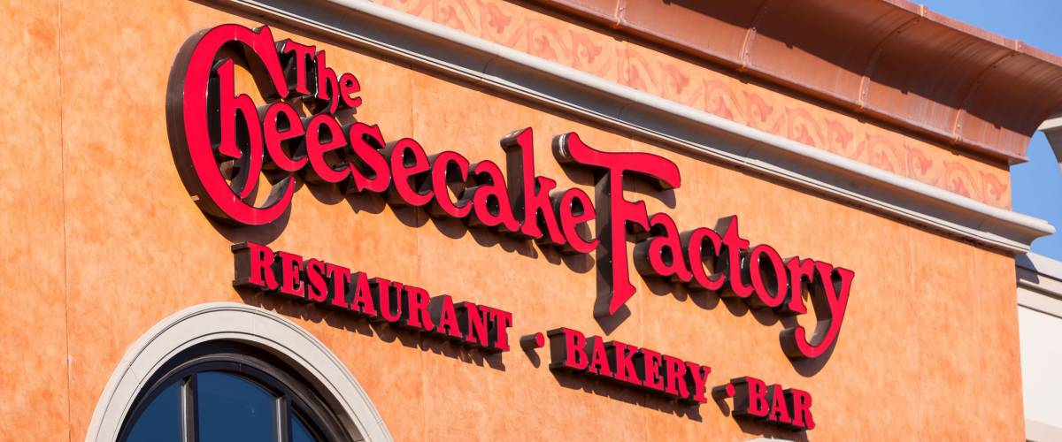 ARLINGTON, VIRGINIA, USA - FEBRUARY 24, 2009: Cheesecake Factory restaurant sign.