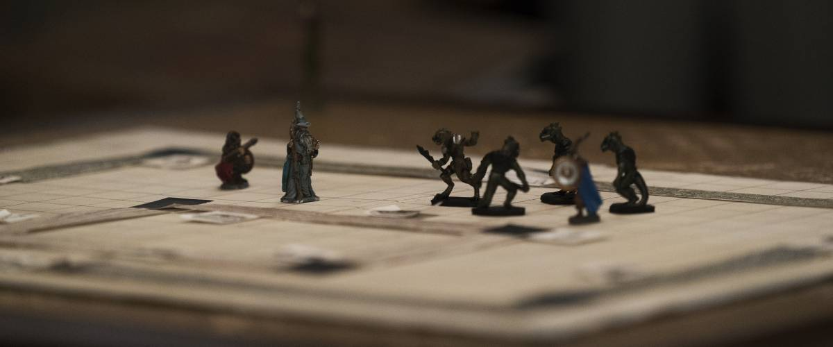 closeup of dungeons and dragons game board