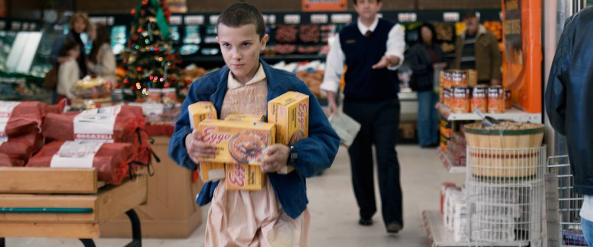 Millie Bobby Brown as Eggo-loving Eleven on Stranger Things