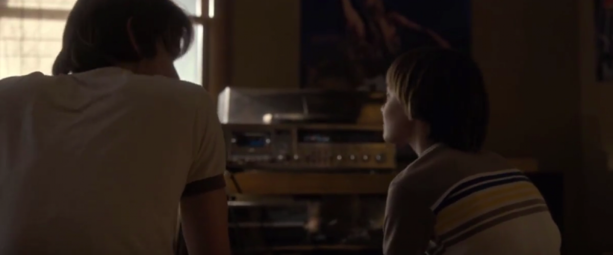 Will and Jon Byers record player scene