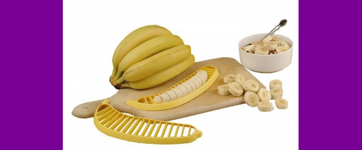 Hutzler 571 Banana Slicer in action