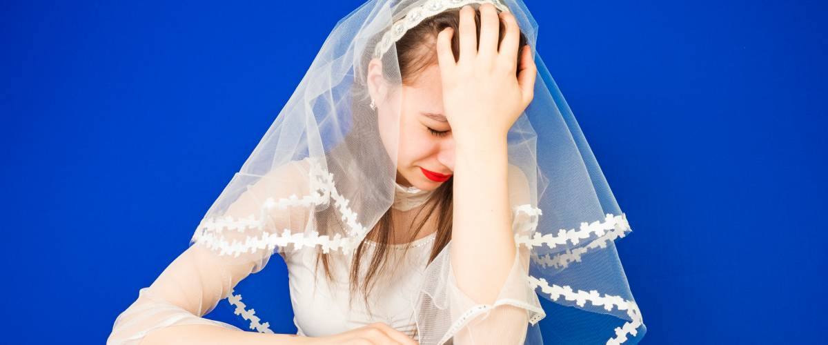 bride facepalm