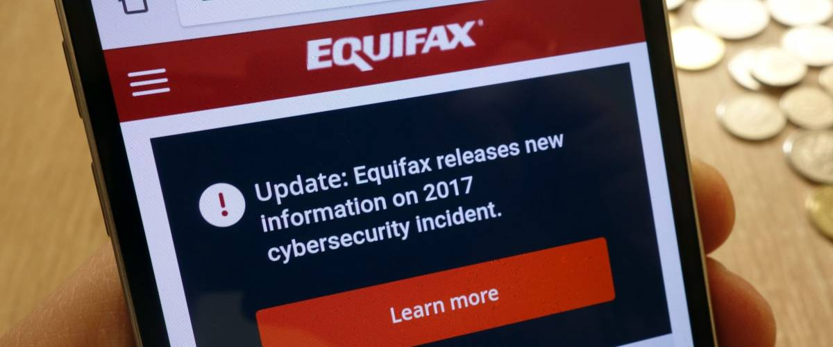 KONSKIE, POLAND - MAY 08, 2018: Equifax Canada website displayed on smartphone