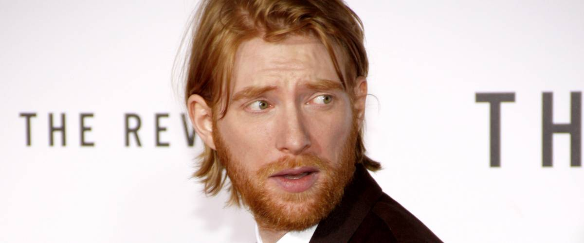 Domhnall Gleeson at the Los Angeles premiere of The Revenant