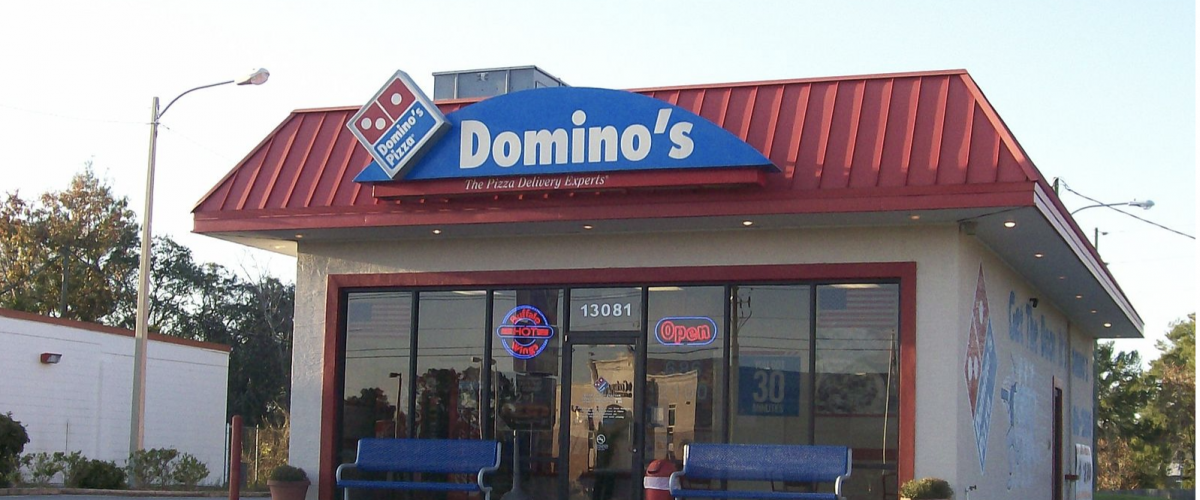 dominos pizza storefront