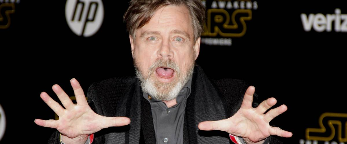 Mark Hamill at the World premiere of Star Wars: The Force Awakens held at the TCL Chinese Theatre in Hollywood, USA