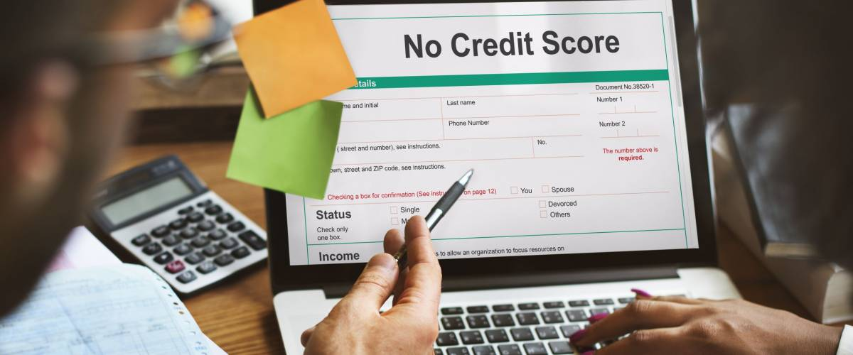 No Credit Score Debt Deny Concept