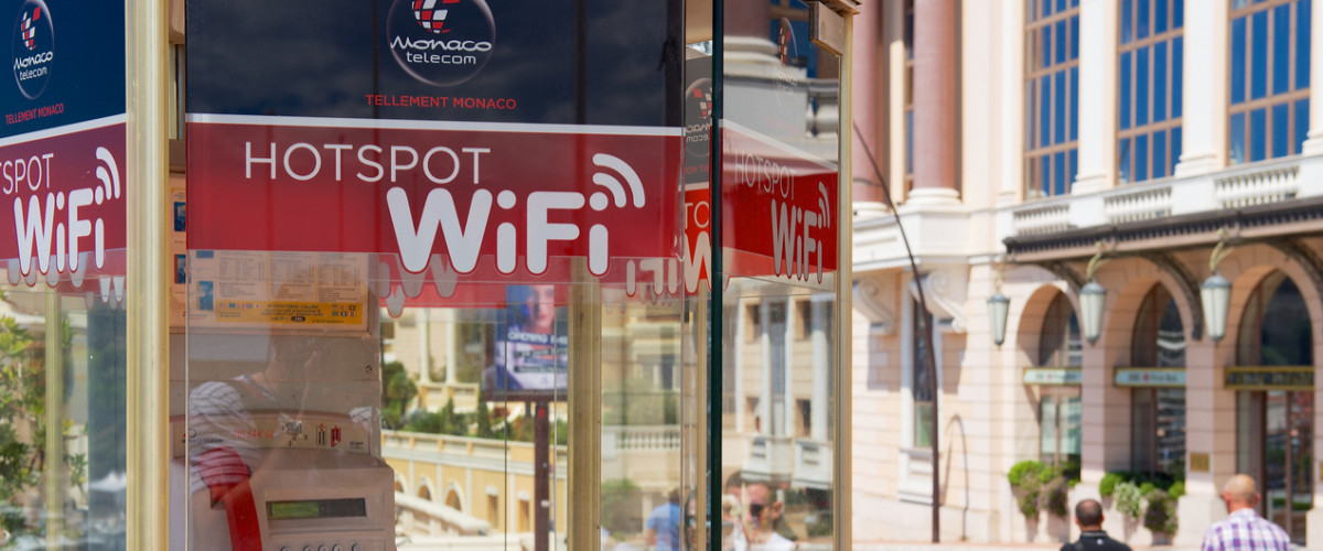 WiFi hotspot phone booth in Monaco
