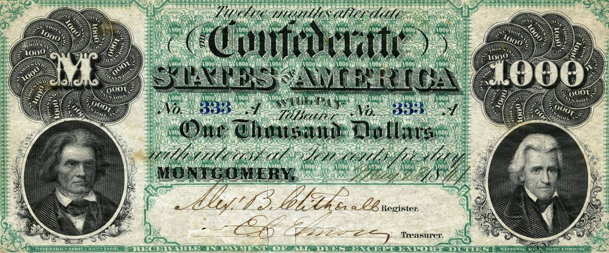 The Confederate States of America Dollar