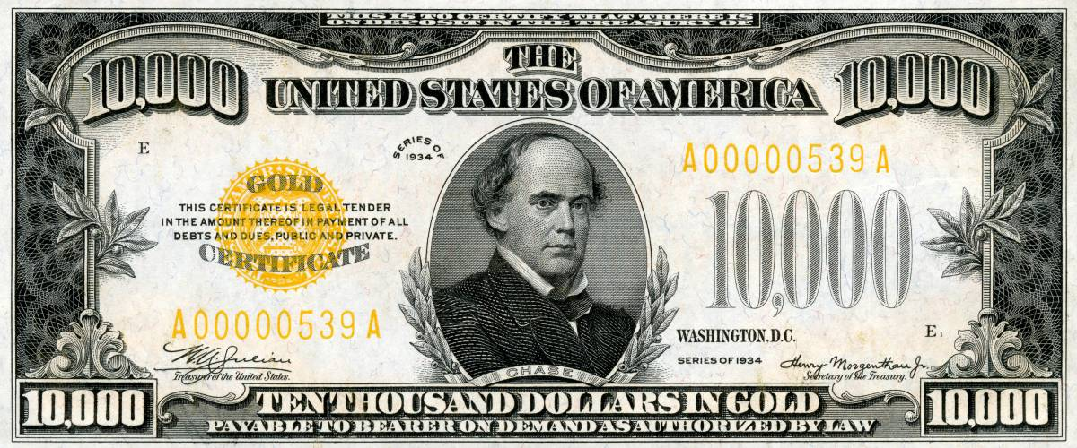 U.S. Treasury gold certificate