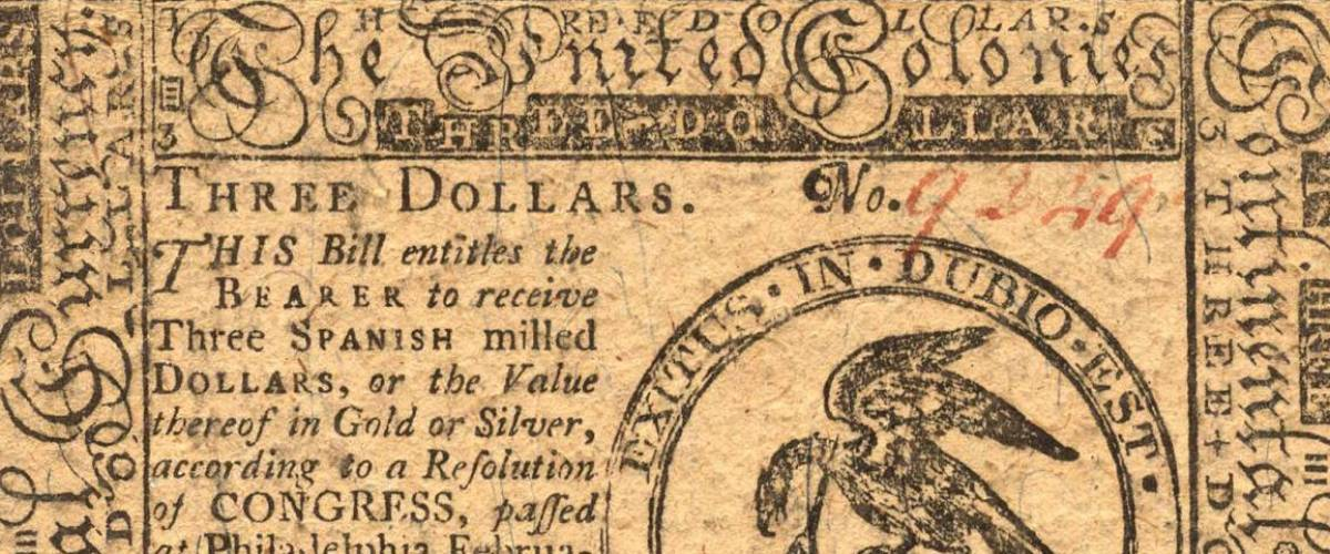 US colonial money