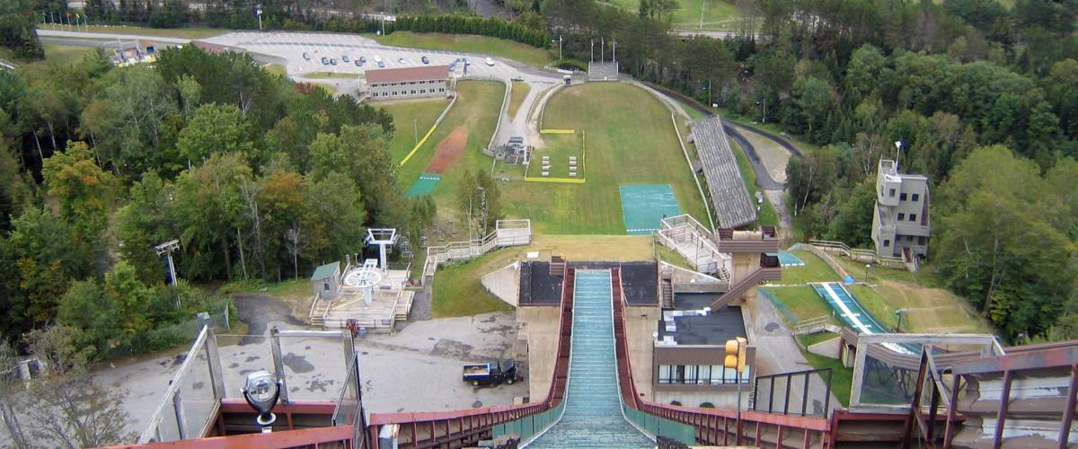 Downhill View from the Ski Jump at Lake Placid - Place of 1932 and 1980 Winter Olympic Games