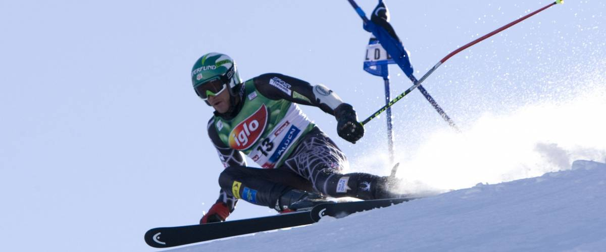 SOELDEN AUSTRIA OCT 26, Bode Miller USA  competing in the mens giant slalom race at the Rettenbach Glacier Soelden Austria, the opening race of the 2008/09 Audi FIS Alpine Ski World Cup