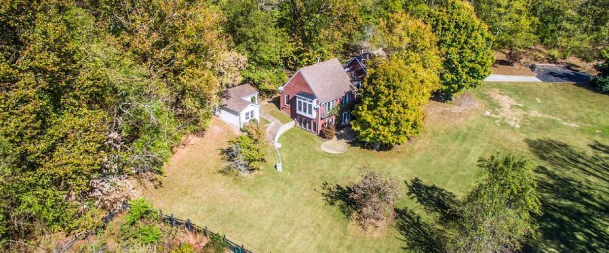 Aerial view of home in Franklin, Tennessee, being sold by Nicole Kidman and Keith Urban