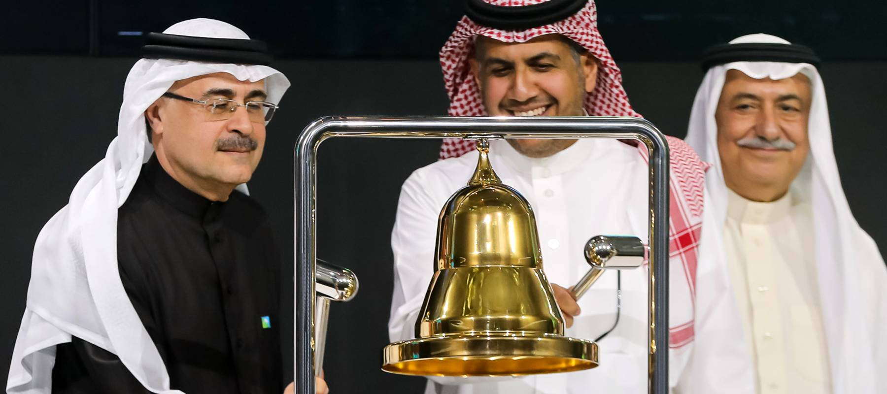 President of Aramco rings the bell