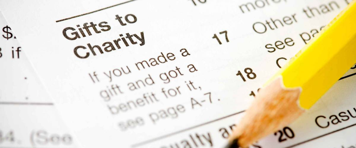 Charitable donations can be deducted from your income