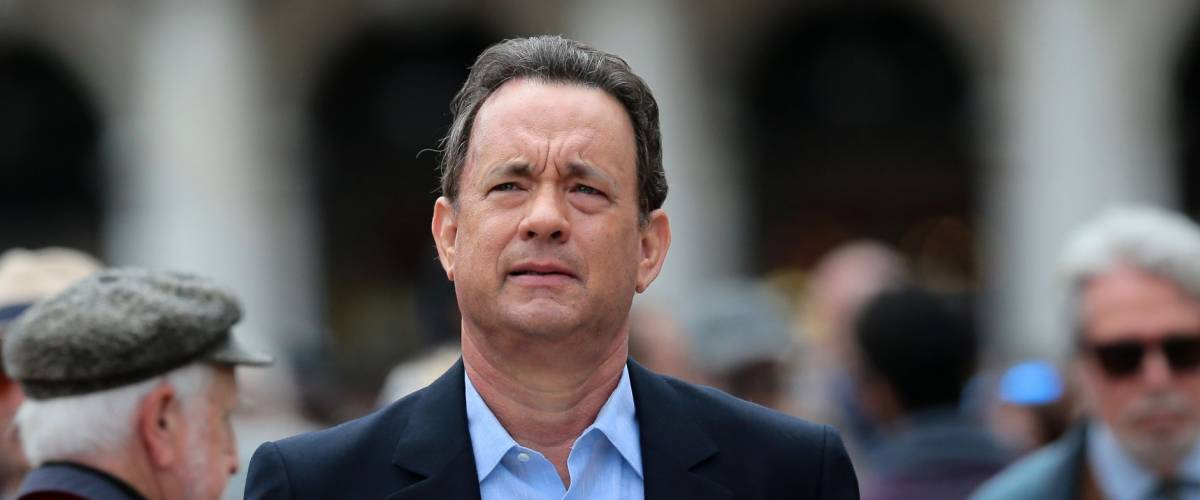 VENICE, ITALY - APRIL 28: Tom Hanks during the filming of
