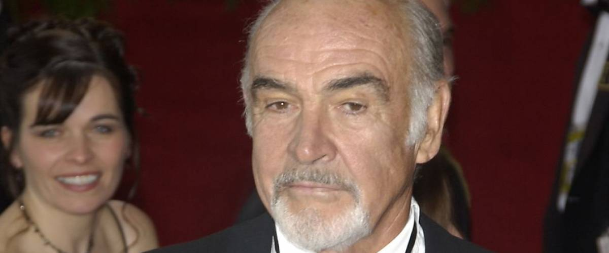 SEAN CONNERY & wife at the 76th Annual Academy Awards in Hollywood. February 29, 2004
