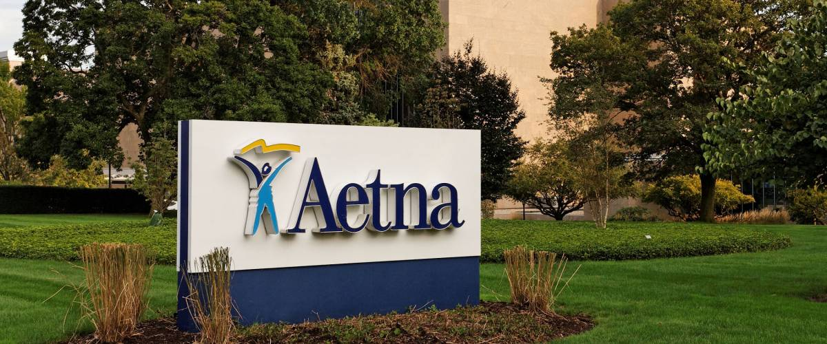 HARTFORD - SEPTEMBER 22: The Aetna world headquarters in downtown Hartford on September 22, 2011. Aetna is the third largest health insurance provider in the United States.
