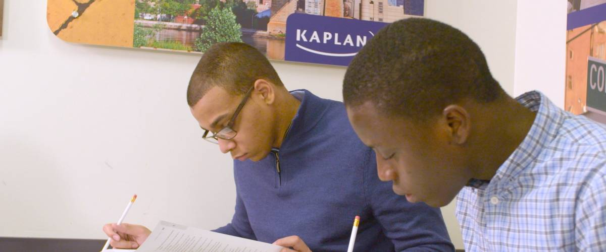 New York, New York - January 26, 2016: Students prep for the New SAT at a Kaplan Test Prep center. Students hoping to attend US colleges will take a new version of the standardized test in March 2016.