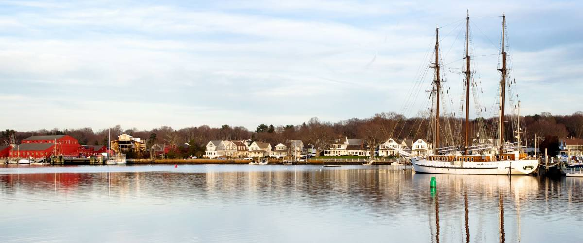 Historical Seaport in Mystic Connecticut