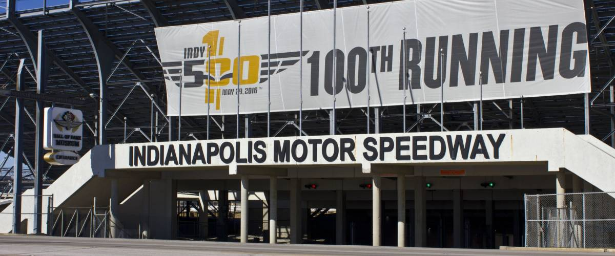 Indianapolis - Circa February 2016: Indianapolis Motor Speedway. IMS Prepares for the 100th Running of the Indy 500 I