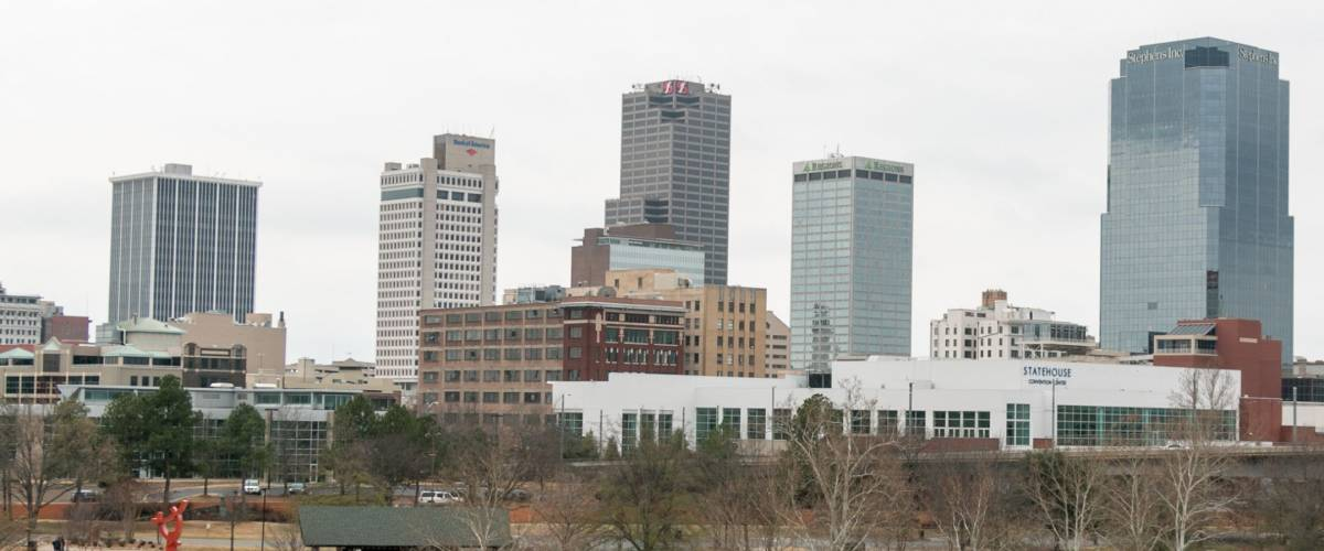 Little Rock, Arkansas - February 20th 2016: Little Rock Winter Skyline
