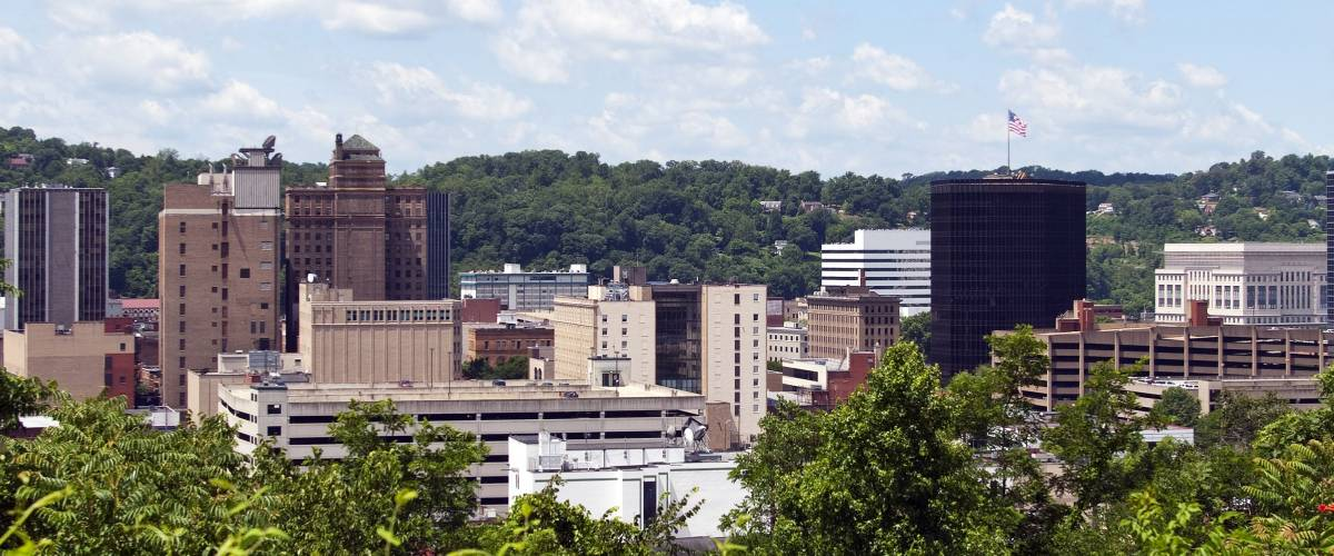 A view of the skyline of downtown Charleston, West Virginia.
