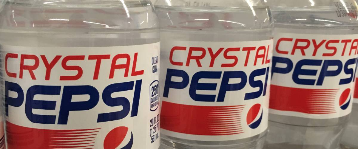 Bottles of Crystal Pepsi