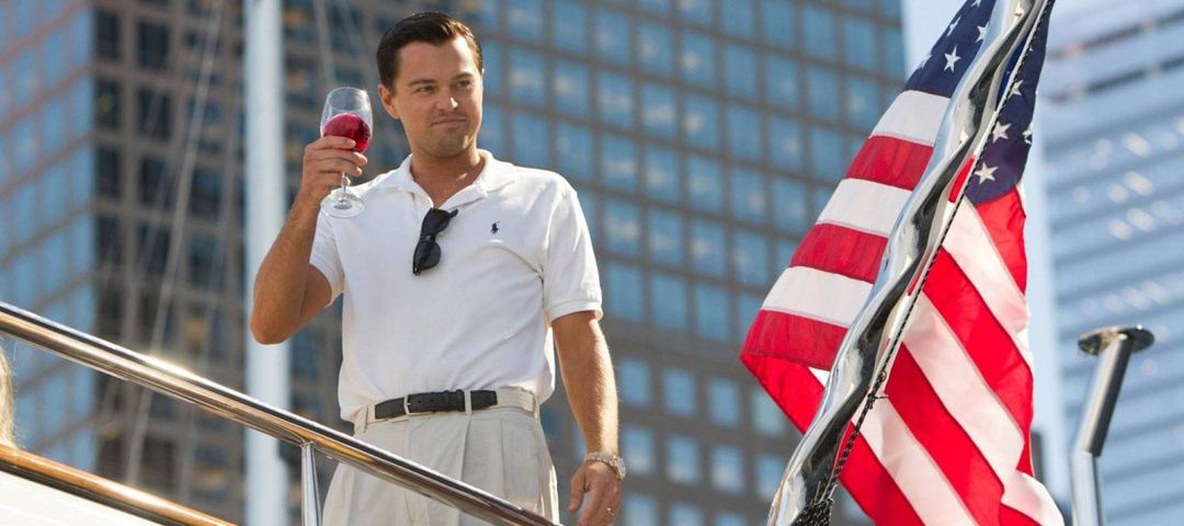 Leo DiCaprio in Wolf of Wall St