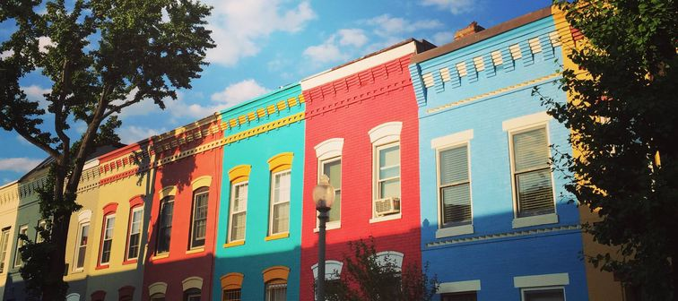Colorful houses in Washington, D.C.