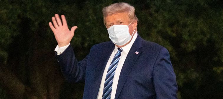 President Donald Trump returns to the White House after COVID hospital treatment, Washington, USA - Oct. 5, 2020