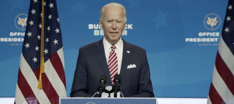 President-elect Joe Biden speaks about the economic recovery, Wilmington, Delaware, Nov. 16, 2020