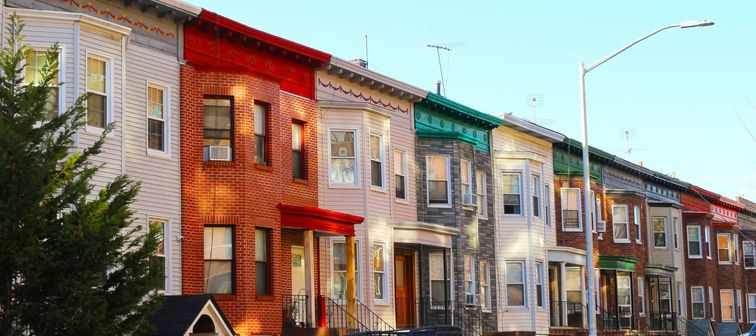 Row of houses in Brooklyn, New York