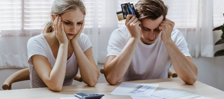 Couple stressed about credit score