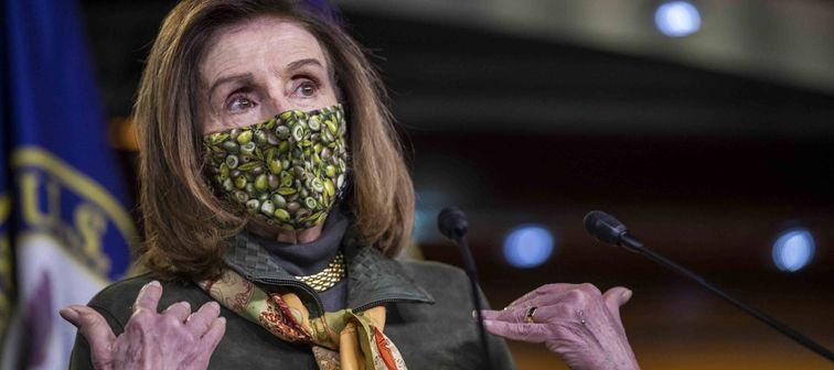 Speaker of the House Nancy Pelosi holds her weekly press conference, Washington, DC - Feb. 18, 2021