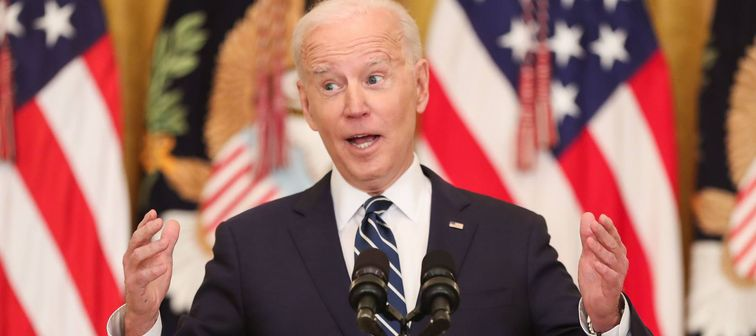 President Joe Biden hosts first presidential news conference, Washington, March 25, 2021.