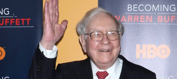Warren Buffett at 'Becoming Warren Buffett' film premiere in New York, January 2017