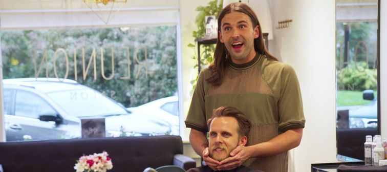 Jonathan Van Ness with Ted Terry in Queer Eye Season 2, Episode 8