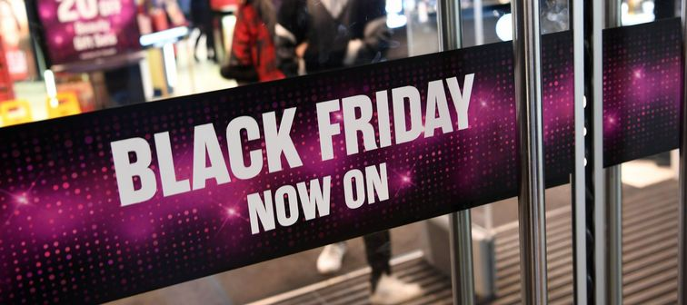 Black Friday sign at a store on Nov. 26, 2019