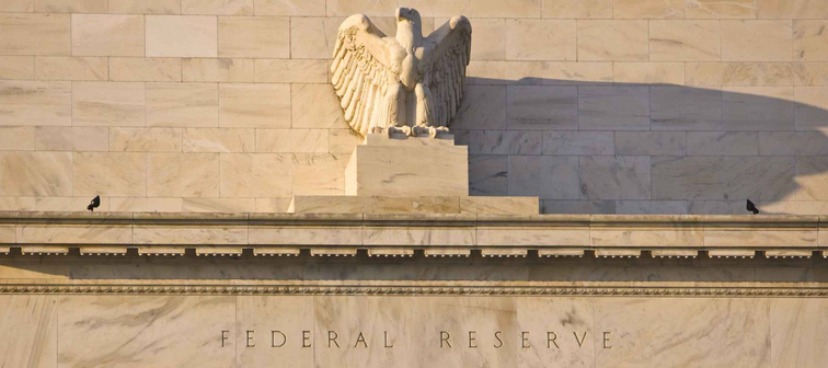WASHINGTON, DC, USA - MARCH 5, 2009: United States Federal Reserve Bank building on Constitution Avenue